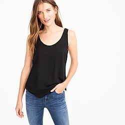 Petite drapey tank top