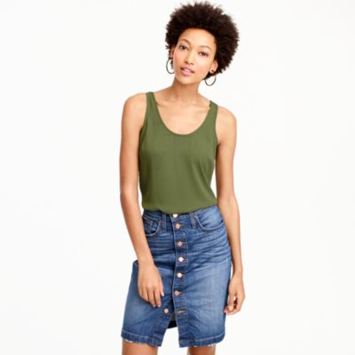 Tall drapey tank top