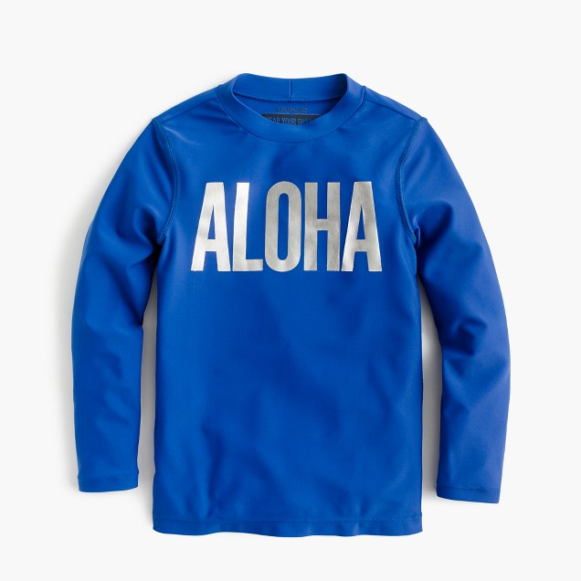 "Kids' rash guard in ""Aloha"""
