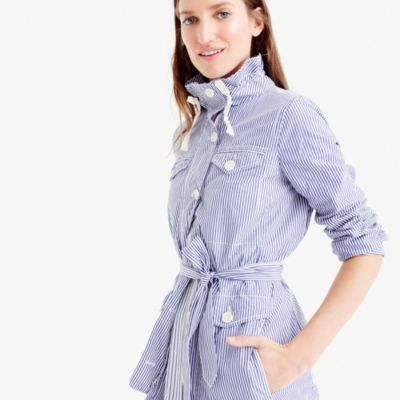 Petite striped utility jacket