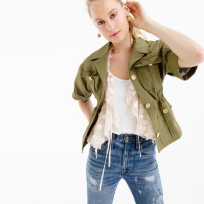 Collection safari jacket in Italian cotton