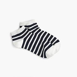 Striped athletic ankle socks