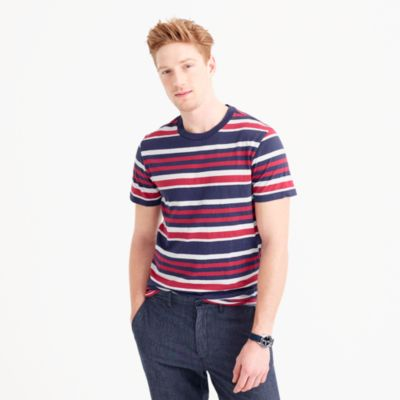 Cotton T-shirt in wide stripe