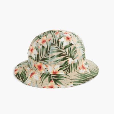 Bucket hat in tropical print