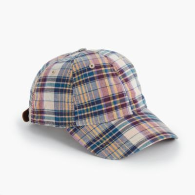 Madras ball cap