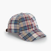Madras ball cap