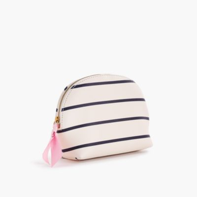 Striped makeup pouch