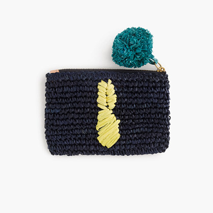 Small pineapple straw pouch