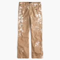 Limited-edition boyfriend chino pant in paint splatter