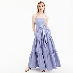 Petite tiered maxi dress in stripe