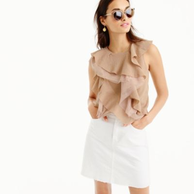 Ruffly shell in gauzy cotton