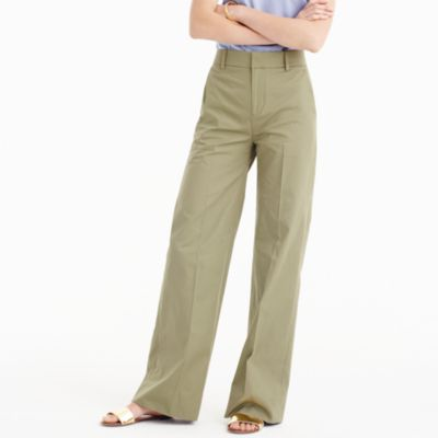 Collection full-length pant in Italian cotton