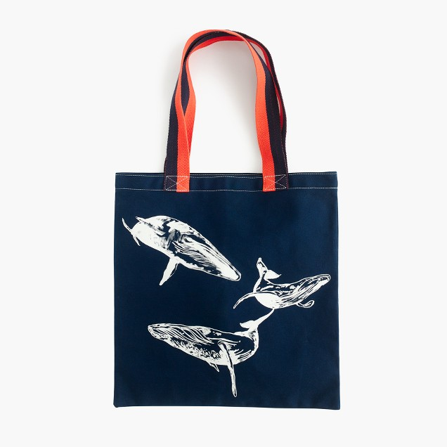 J.Crew for the Royal Ontario Museum whale tote