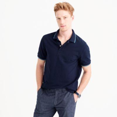 Classic piqué tipped polo shirt