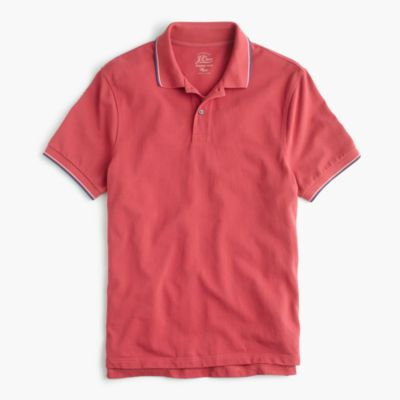 Classic piqué tipped polo shirt