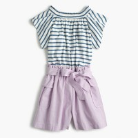 Girls' paper bag romper