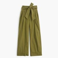 Cotton poplin tie-waist pant