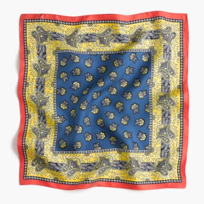 Square silk scarf in vintage paisley