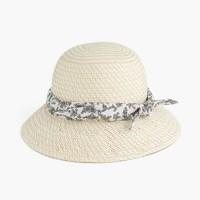 Straw hat with bandana