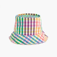 Bucket hat in rainbow gingham