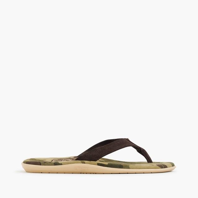 Island Slipper® flip-flops in camo