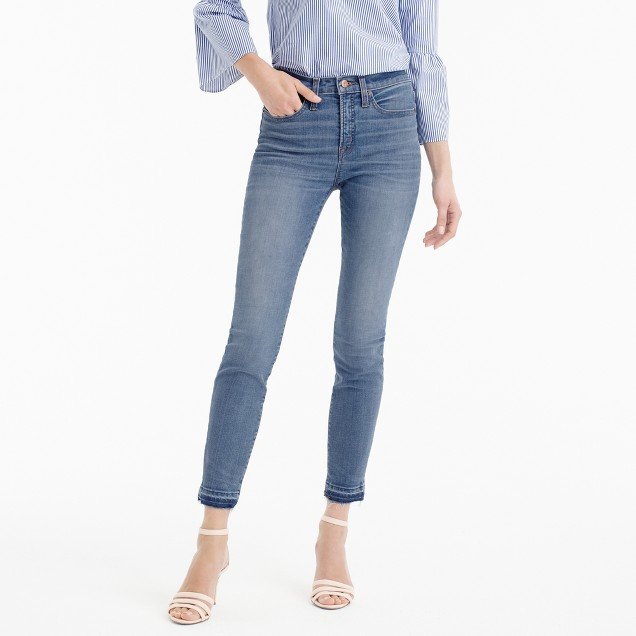 "9"" lookout high-rise crop jean with let-out hem"