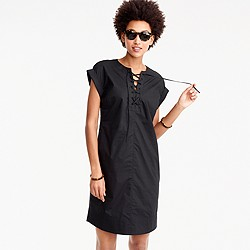 Lace-up shirtdress
