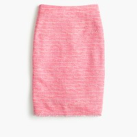 Pencil skirt in neon fuchsia tweed