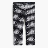 Girls' everyday cropped leggings in mini elephant print
