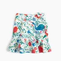 Girls' flutter skirt in secret garden print