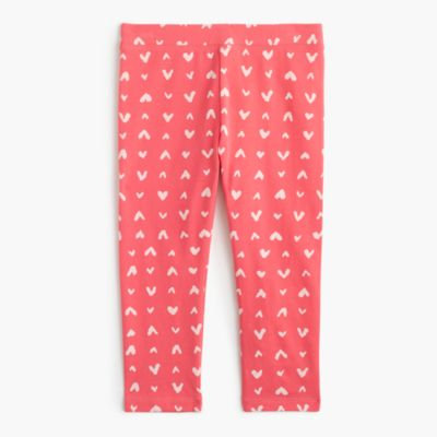 Girls' everyday leggings in heart print