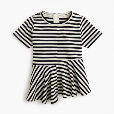Girls' striped swingy T-shirt