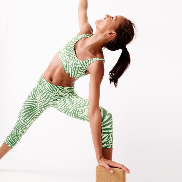 New Balance® for J.Crew premium performance scoopneck sports bra in palm print