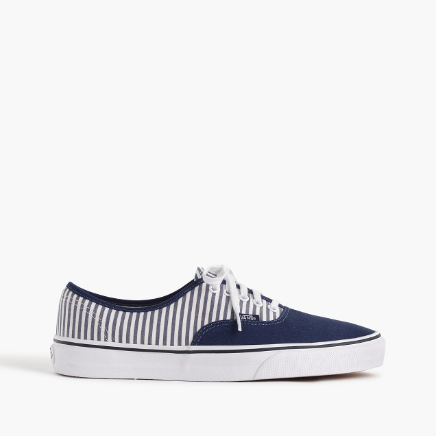 Vans® for J.Crew authentic sneakers in seersucker stripe