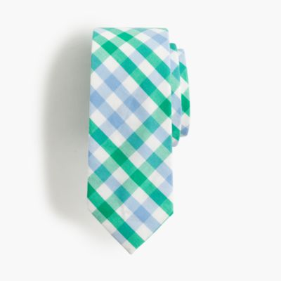 Boys' cotton tie in gingham