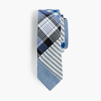 Boys' cotton tie in patchwork