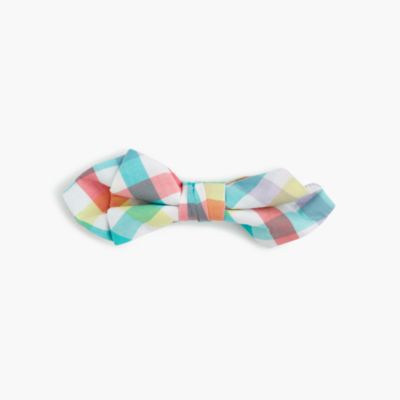Boys' cotton tie in rainbow gingham