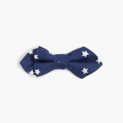 Boys' critter cotton bow tie in stars