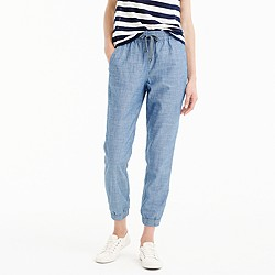 Petite new seaside pant in chambray