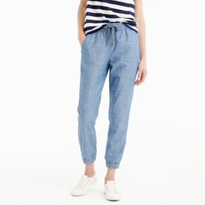 Tall new seaside pant in chambray