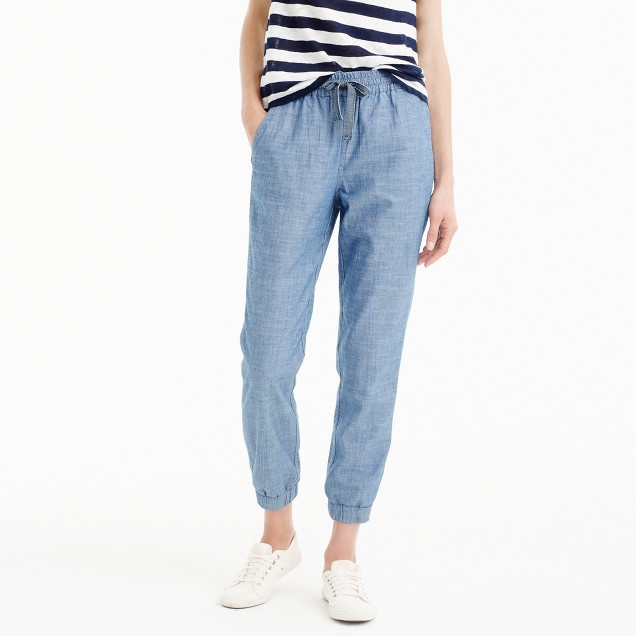 New seaside pant in chambray