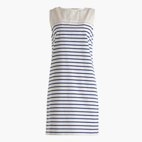 Striped dress with eyelet