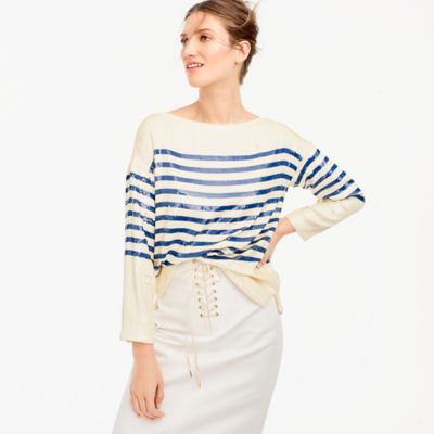 Collection striped sequin shirt