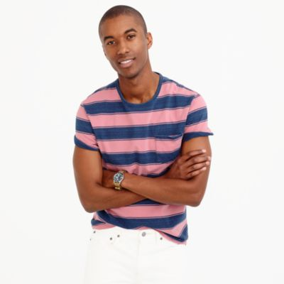 Wallace & Barnes T-shirt in indigo stripe