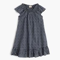 Girls' ruffle dress in mini elephant print