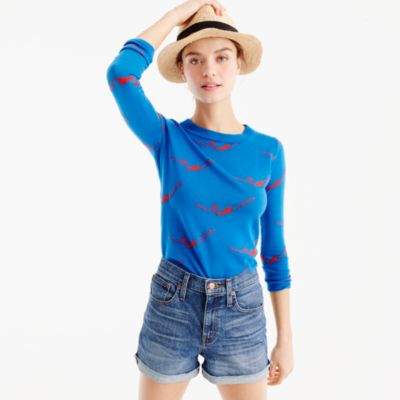 Tippi sweater in diver print
