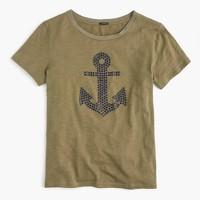 Embellished anchor T-shirt