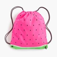 Girls' watermelon drawstring backpack