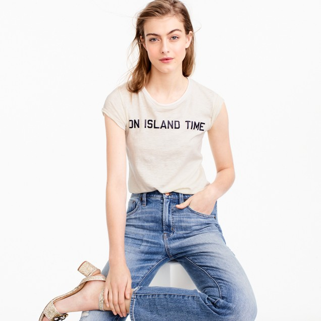 """On island time"" T-shirt"