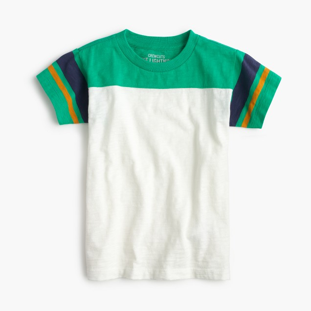 Boys' football yoke striped T-shirt